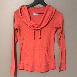 Columbia Cowl Neck Hooded Shirt
